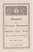 Mariquita Chair Bryan, Souvenir De Première Communion, 1909, SAN REMO (Italie). - Communion