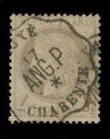 FRANCE - N°52 Obl. CAD CONVOYEUR-STATION LUXÉ / ANG.P / CHARENTE Ind.18