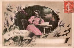 UN SOUVENIR  DE.....FEMME EN ROBE ROSE - Femmes