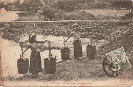Asie:  Indo-Chine Française  -  Tonkin - Petites Filles Porteuses D' Eau  Réf 3007 - Other