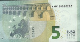 € 5 GREECE  Y001 G4  DRAGHI  UNC - 5 Euro