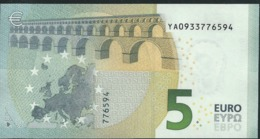 € 5 GREECE  Y001 D6  DRAGHI  UNC - 5 Euro