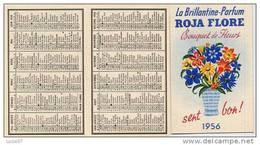 ACHAT IMMEDIAT Carte Parfumée  ROJA FLORE BOUQUET DE FLEURS Calendrier  Double 1956 - Perfume Cards