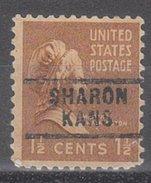 USA Precancel Vorausentwertung Preos Locals Kansas, Sharon 729