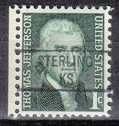 USA Precancel Vorausentwertung Preos Locals Kansas, Sterling 841