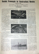 1923 La Société Provençale De Construction Navale Marseille La Ciotat - Article Publicité De 1 Pages Avec 3 Photos - Bateaux