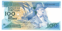 Portugal 100 Esc. 1986, AUNC.  Free Ship. To USA. - Portugal
