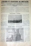 1923 Ateliers Et Chantiers De Bretagne -Ets La Brosse Et Fouché - Nantes - Article Publicité De 1 Pages Avec 2 Photos - Bateaux