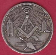 Grande Bretagne - Médaille Maçonique Loge N°104 - Bronze - Professionnels / De Société