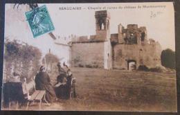 Carte Postale Beaucaire Animée Château De Montmorency + Timbre 10c Pré-oblitéré N°51 - Beaucaire