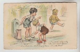 CPSM HUMOUR ENFANTS ILLUSTRATEUR GERMAINE BOURET - C'en Est Un.....on Lui Fiche Notre Pied Dans Le.... - Humour