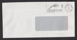 Flamme Dpt 63 : CHAMALIERES (SCOTEM N°  9722 Du 02/01/1989 => 31/03/1989) : AUVERGNE (et Volcan Stylisé) - Poststempel (Briefe)