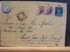 68/862   DEVANT DE LETTRE POUR LA FRANCE TAXEE 1.O5 FF   36 GRAMMES - Covers & Documents