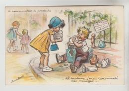 CPSM HUMOUR ENFANTS RACCOMODEUR PORCELAINE ILLUSTRATEUR GERMAINE BOURET - Ah Madame J'en Ai Raccomodé Des Ménages - Humour