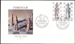 FAROE 1983 «Chess» Mi# 82-83 FDC Complete Se-tenant Pair - Perfect Condition - Färöer Inseln