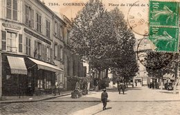 92 COURBEVOIE PLACE DE L' HOTEL DE VILLE CAFE TABAC H BILBILLE PROPRIETAIRE ANIMEE - Courbevoie