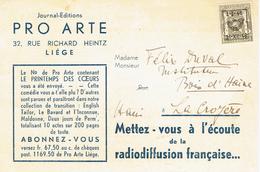 """Annonce De La Diffusion Du Printemps Des Coeurs, De Fernand Delveaux Sur """"le Poste De Lille"""" 21/9/1946 - Pubblicitari"""