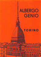 "D5896 ""HOTEL ALBERGO GENIO  - TORINO - ITALIA""  ETICHETTA ORIGINALE - ORIGINAL LABEL - Adesivi Di Alberghi"