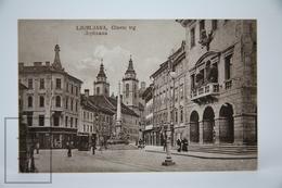 Old Postcard Slovenia - Ljubljana/ Laibach - Glavni Trg  - Animated - 1922 - Eslovenia