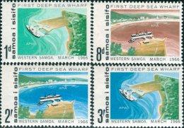 Samoa 1966 SG265-268 Deep Sea Wharf Set MLH