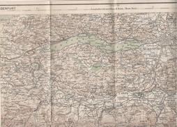 Klaghenfurt Austria Guerra Italo Austriaca Mappa Map Karte Militare 1916 Con Indicazioni Lingua Italiano E Slava - Europa