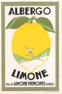 "D5898 ""HOTEL ALBERGO LIMONE  - LIMONE PIEMONTE - CUNEO -  ITALIA""  ETICHETTA ORIGINALE - ORIGINAL LABEL - Adesivi Di Alberghi"