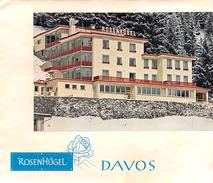 """D5907 """"ROSEN HUGEL   - DAVOS - SVIZZERA""""  ETICHETTA ORIGINALE - ORIGINAL LABEL - Adesivi Di Alberghi"""