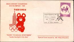 GLORY TO INDIAN SPORTSMEN-INDIA HOCKEY CHAMPIONS-TABLE TENNIS-XXII OLYMPIAD-1980-SP CVR-INDIA-1980-BX1-366-11