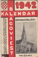 CROATIA. KRIZEVCI. CALENDAR 1942 - Boeken, Tijdschriften, Stripverhalen