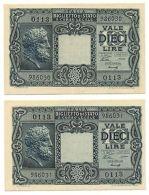 10 LIRE BIGLIETTO DI STATO GIOVE LUOGOTENENZA UMBERTO VENTURA 23/11/1944 SPL+ - [ 1] …-1946 : Royaume