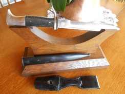 """Baionnette De Parade Allemande """"Carl-Julius"""" Solingen Et Son Gousset - Knives/Swords"""