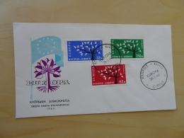 Zypern Michel 215/17 FDC Cept 1963 (4189) - Lettres & Documents