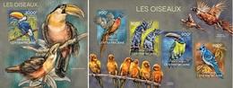 Centrafrica 2014, Animals, Birds, 4val In BF +BF