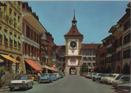 Murten Hautpstrasse Mit Berntor - Morat Grand-Rue - Photoglob No. 3527 - FR Freiburg