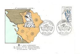 Journée Du Timbre Poitou Charentes 86 Poitiers Du 8 Décembre 1975 Timbre à 1,90, En Bon état. - Autres