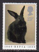 GREAT BRITAIN GB - 1990 RSPCA ANNIVERSARY 29p RABBIT STAMP FINE MNH ** SG 1480 - 1952-.... (Elizabeth II)