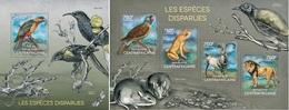 Centrafrica 2014, Animals, Extint Species, Birds, Frog, 4val In BF+BF