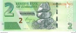 Zimbabwe - Pick New - 2 Dollars 2016 - Unc - Bond Note - Zimbabwe