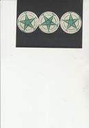 ESPERANTO -  3 VIGNETTES RONDES AVEC GOMME  TTB - 1913 - Commemorative Labels