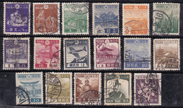 Japon 1937-1940 N° Y&T : 262 à 278 Obl. - 1926-89 Emperador Hirohito (Era Showa)