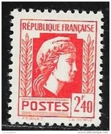 N° 641   FRANCE  -  FRANCE  -  NEUF    -  MARIANNE  D'ALGER  -  1944 - Neufs
