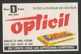 Buvard - OPTICIL Pour Eviter La Fatigue Des Yeux - Buvards, Protège-cahiers Illustrés