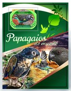 GUINE BISSAU 2016 SHEET PARROTS PERROQUETS LOROS PAPAGAIOS PAPAGEIEN PAPPAGALLI BIRDS OISEAUX AVES Gb16805b - Guinea-Bissau