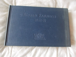 World Railways 1950 1951 Sampson Low - Books On Collecting
