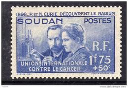 Soudan  N° 99 (.)  Pierre Et Marie Curie Neuf Sans Gomme Sinon TB