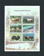TANZANIA 2005 - Tanzania Safari Circuits - Minisheet 6 Issues - MNH - Mi:TZ 4232-37 - Tanzania (1964-...)