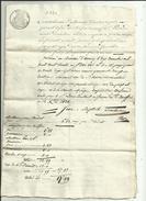 Tampon Quittance De C 60  Hypotheque Requise Par Mr DEMAISON Fr A Allonzier_et Jean-ESCOFFIER Boulanger Annecy Voir Scan - 1800 – 1899