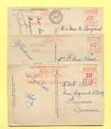 M31  :  3  EMA Du  MONT SAINT MICHEL  CONCORDANCE AVEC CP - Postmark Collection (Covers)