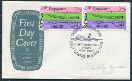 1971  Australia Sydney - Singapore Qantas Flight Cover - Covers & Documents