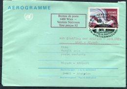 1986 Austria UN / Saudi Arabia First Flight Aerogramme. Wien - Riyadh - First Flight Covers